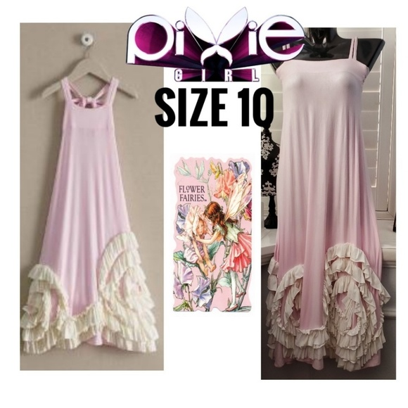 Pixie girl Other - PIXIE GIRL Pink White Ruffle Maxi Summer Dress